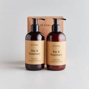 bay & rosemary hand wash & lotion